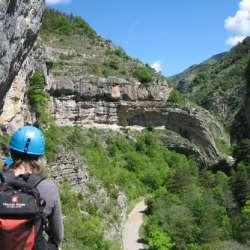 Via Ferrata Les Vires des Gorges Agnielles,  La Faurie